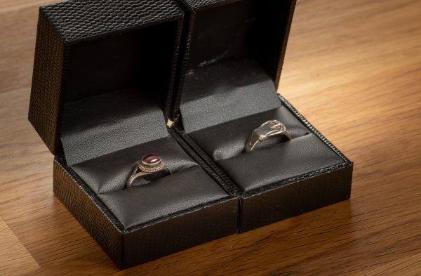 stirling silver retro rings