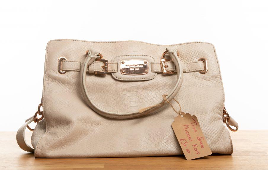Cream Leather Michael Kors True Grace Bag